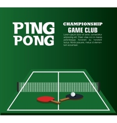 Ping pong equipment sport vector