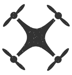 Quadcopter icon rubber stamp vector