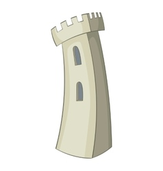 Retro castle icon cartoon style vector