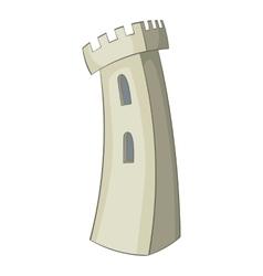 Retro castle icon cartoon style vector image