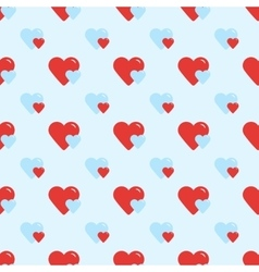 Seamless retro pattern two hearts vector image vector image
