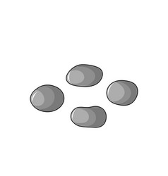 stones set isolated on white background for vector image