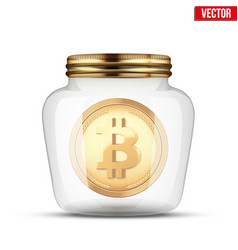 symbol of save digital cryptocurrency money vector image