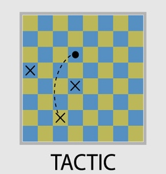 Tactic icon flat design vector image vector image