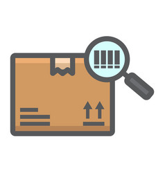 Tracking parcel filled outline icon logistic vector