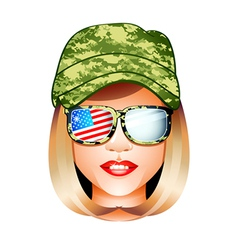 Us army girl vector