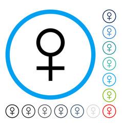 Venus female symbol rounded icon vector