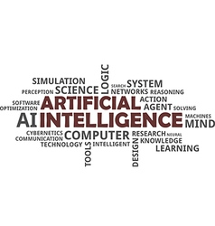word cloud artificial intelligence vector image vector image