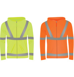 Yellow and orange safety jackets vector