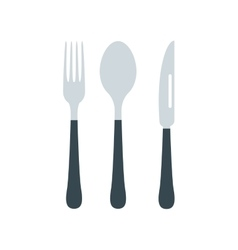 Cutlery set with fork knife and spoon vector