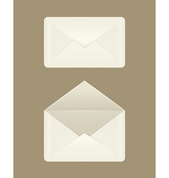 Image of a blank open and closed envelopes vector