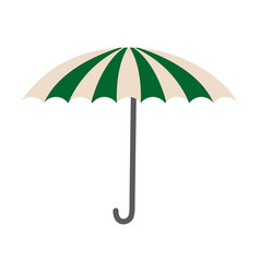 Green and white umbrella circus clown equipment vector