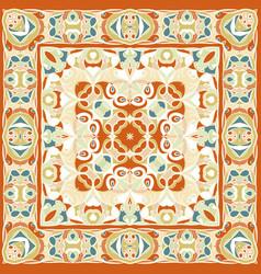 A bright orange handkerchief in oriental style vector