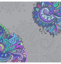 Frame of the indian floral ornament vector