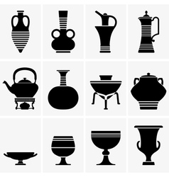 Ancient crockery vector