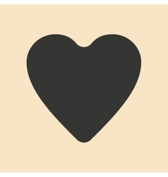 Flat in black and white mobile application heart vector