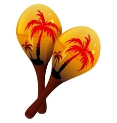 Maracas musical instrument mexican maraca vector