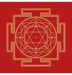 monocrome Bhuvaneshwari yantra vector image