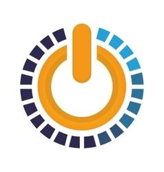 Button icon on design graphic vector