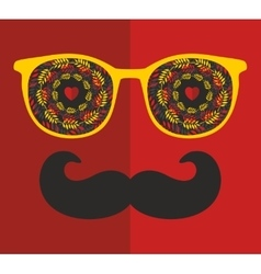 Abstract portrait of man in sunglasses and with vector image vector image