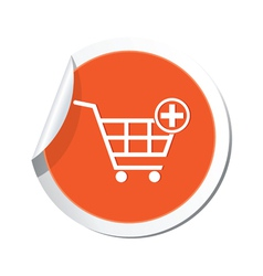 add to basket ORANGE LABEL vector image vector image
