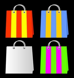 bags for purchases vector image vector image