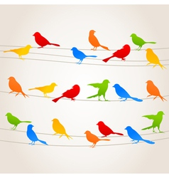 Bird on a wire5 vector