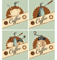 coffee in retro style vector image vector image
