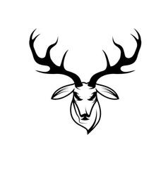Deer head design template vector