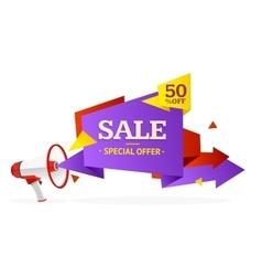 Discount banner sticker vector