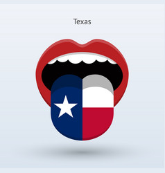 Electoral vote of texas abstract mouth vector
