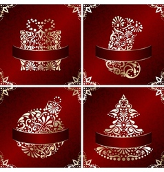 elegant christmas cards vector image