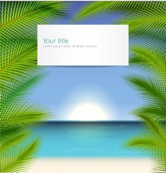 Exotic trip background vector