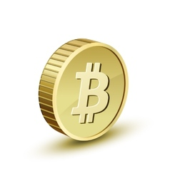 Golden bitcoin vector