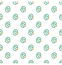 Green rosary pattern vector