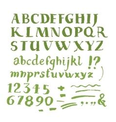 Hand drawn brush stroke font vector