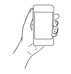 Hand Holding the Smart Phone vector image