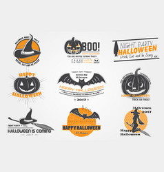 happy halloween set invitation to a party of vector image vector image