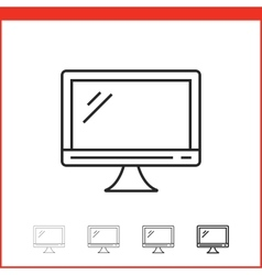 icon of monitor vector image vector image