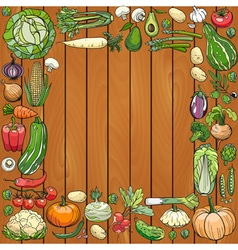Many different vegetables vector