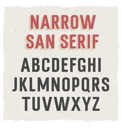 Narrow sans serif 002 vector