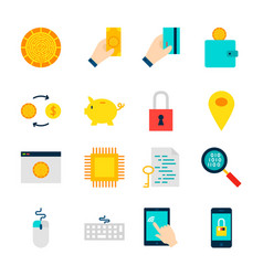 Objects crypto currency vector