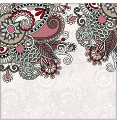 ornate floral card announcement vector image vector image