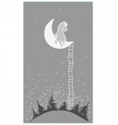 pony on moon vector image vector image