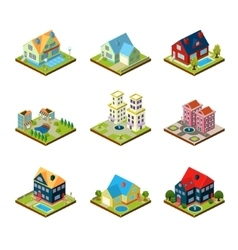 Private house 3d isometric vector