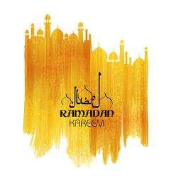 Ramadan kareem generous ramadan greetings in vector