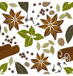 seamless pattern with spices vector image vector image