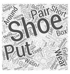 Shoe rack word cloud concept vector