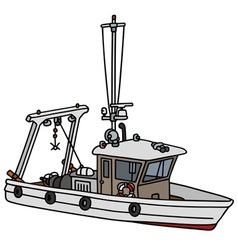 Small fishing boat vector image vector image