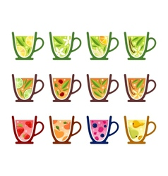 Teacups vector